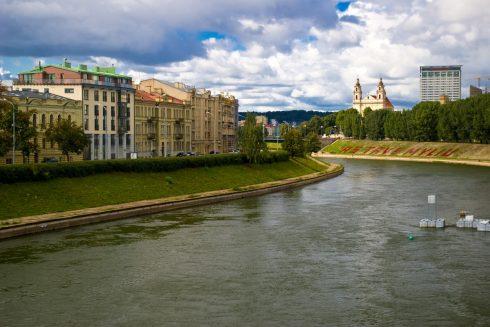 Katedralplassen, Pilies, Markedsplassen, Neris, Vilnius, historisk, gamleby, Unesco Verdensarven, Lithauen, Baltikum