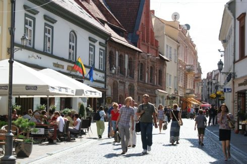 Pilies, Markedsplassen, Vilnius, historisk, gamleby, Unesco Verdensarven, Lithauen, Baltikum