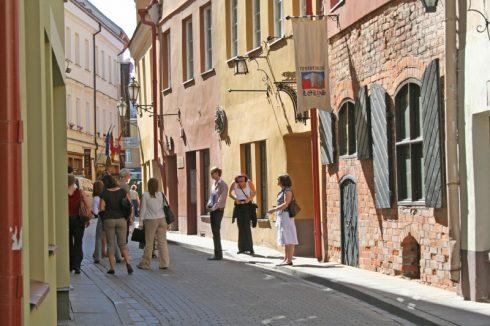 Den jødiske ghetto, Katedralplassen, Pilies, Markedsplassen, Vilnius, historisk, gamleby, Unesco Verdensarven, Lithauen, Baltikum