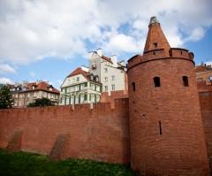 Barbican, Warszawa, Unesco Verdensarv, gamlebyen Stare Miasto, Starowka, historisk bydel, middelalder, markedsplass Rynek Starego Miasto, Wisla, Midt-Polen, Polen