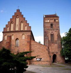 Santa Marias kirke fra 1411, Warszawa, Unesco Verdensarv, gamlebyen Stare Miasto, Starowka, historisk bydel, middelalder, Wisla, Midt-Polen, Polen