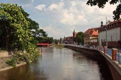 Wyspa Piasek, Wroclaw, Unesco Verdensarv, gamlebyen, historisk bydel, middelalder, markedsplass Rynek, Odra, Sør-Polen, Polen
