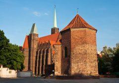 Kloster, St Martinskirken ved katedralen, Wroclaw, Unesco Verdensarv, gamlebyen, historisk bydel, middelalder, markedsplass Rynek, Odra, Sør-Polen, Polen