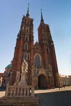 Katedralen St Johannes Døperen, Wroclaw, Unesco Verdensarv, gamlebyen, historisk bydel, middelalder, markedsplass Rynek, Odra, Sør-Polen, Polen