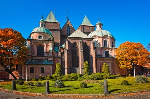 Wroclaws katedral St Johannes Døperen, Erkediokese-museet, Wroclaw, Unesco Verdensarv, middelalder, markedsplass Rynek, Odra, Sør-Polen, Polen