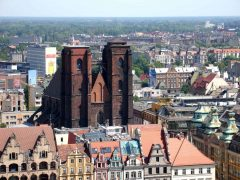 Maria Magdalena-kirken, Wroclaw, Unesco Verdensarv, gamlebyen, historisk bydel, middelalder, markedsplass Rynek, Odra, Sør-Polen, Polen