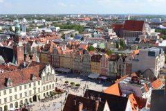 gotisk middlalderkirke, St Vinzenz, markedsplass Rynek, Wroclaw, Unesco Verdensarv, gamlebyen, historisk bydel, middelalder, markedsplass Rynek, Odra, Sør-Polen, Polen