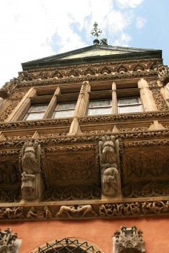 Rådhuset, karnapp, Gauske, Wroclaw, Unesco Verdensarv, gamlebyen, historisk bydel, middelalder, markedsplass Rynek, Odra, Sør-Polen, Polen