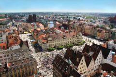 Wroclaw, Unesco Verdensarv, gamlebyen, historisk bydel, middelalder, markedsplass Rynek, Odra, Sør-Polen, Polen