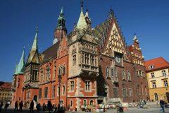 Rådhus, Ratus, Wroclaw, gamlebyen, Unesco Verdensarv, middelalder, markedsplass Rynek, Odra, Sør-Polen, Polen