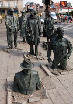 Skulpturer, statuer, Wroclaw, Unesco Verdensarv, gamlebyen, historisk bydel, middelalder, markedsplass Rynek, Odra, Sør-Polen, Polen