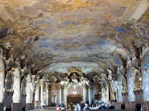 Aula Leopoldina, Wroclaw Universitet, Wroclaw, Unesco Verdensarv, middelalder, markedsplass Rynek, Odra, Sør-Polen, Polen