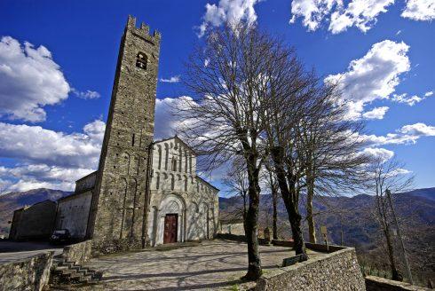 Pieve di San Cassiano di Controni, Bagni di Lucca, Toscana, Midt-Italia, Italia