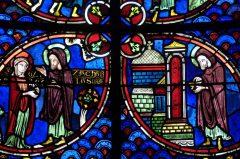 Glassmalerier, Cathédrale St.-Etienne, Bourges, bindingsverk, Vieux Ville, Unescos liste over Verdensarven, Vest-Frankrike, Frankrike