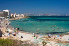 C'an Picafort, Alcudiabukten, Mallorca, Balearene, Spania