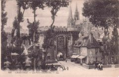 Chartres, Porte Guillaume,  Vielle Ville, Cathedrale Notre dame de Chartres, Eure, Eure et Loire, Unescos liste over Verdensarven, Vest-Frankrike, Frankrike