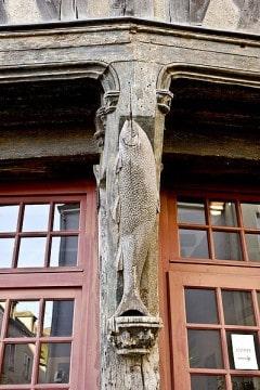 Chartres, Maison du Saumon, Vielle Ville, Cathedrale Notre dame de Chartres, Eure, Eure et Loire, Unescos liste over Verdensarven, Vest-Frankrike, Frankrike