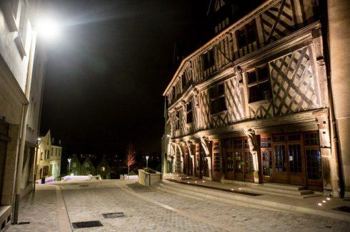 Chartres, maison de Saumon, Vielle Ville, Cathedrale Notre dame de Chartres, Eure, Eure et Loire, Unescos liste over Verdensarven, Vest-Frankrike, Frankrike