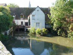 Chartres, Moulin Saint-Père, Vielle Ville, Cathedrale Notre Dame de Chartres, Eure, Eure et Loire, Unescos liste over Verdensarven, Vest-Frankrike, Frankrike