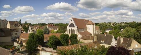 Chartres, Collégiale Saint-André, Vielle Ville, Cathedrale Notre Dame de Chartres, Eure, Eure et Loire, Unescos liste over Verdensarven, Vest-Frankrike, Frankrike