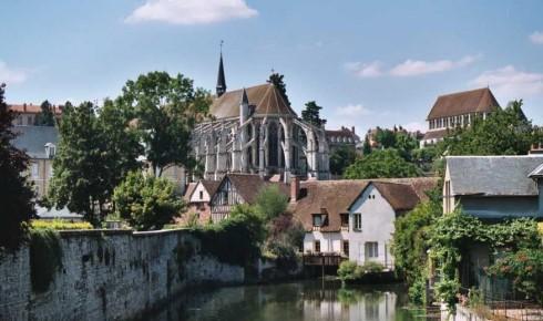 Chartres, L'abbaye de Saint-Père-en-Vallée, Vielle Ville, Cathedrale Notre Dame de Chartres, Eure, Eure et Loire, Unescos liste over Verdensarven, Vest-Frankrike, Frankrike