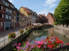 Colmar, bindingsverk, kanaler, Petit Venice, Nord-Frankrike, Frankrike