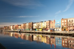 River Liffey, old town, Dublin, Irland, Storbritannia