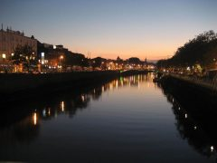 River Liffey, Dublin, Irland, Storbritannia