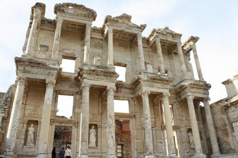 biblioteket i Efesos, Bodrum, Halikarnassos, Egeerhavskysten, Pamukkale, Efesos, Tyrkia