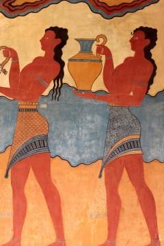 Knossos, fresker, Kreta, Hellas