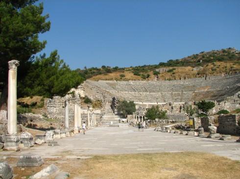Afesos, greke koine, Kusadasi, Tyrkia, Hellas