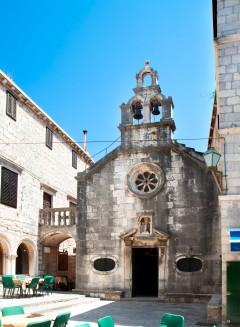 Korcula, gamleby, historiske severdigheter, Makarskakysten, Split og øyene, Kroatia