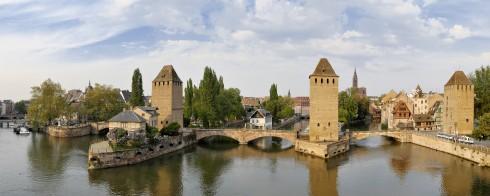 Ponts Couvert, Strasbourg, Alsace, Nord-Frankrike, Frankrike