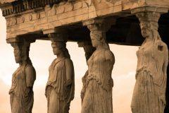 Karyatiderne, Akropolis, Erechteion, Athen, Hellas