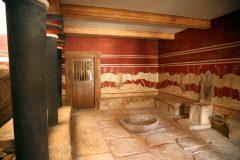 Tronehallen, Knossos, Kreta, Hellas