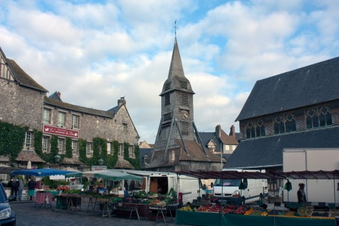 Honfleur, Église Sainte Catherine, impresjonistene, Hundreårskrigen, Normandie, Calvados, Vest-Frankrike