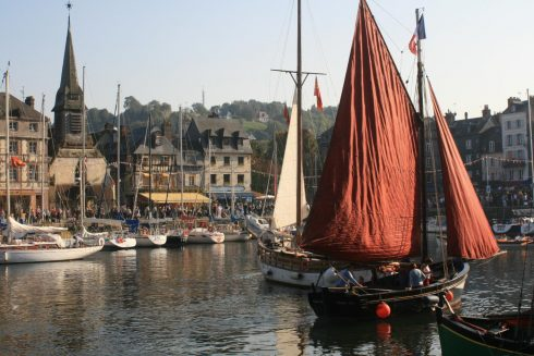 Honfleur, Vieux Bassin, impresjonistene, Hundreårskrigen, Normandie, Calvados, Vest-Frankrike