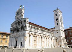 Lucca, romertid, amfiteater, middelalder, renessanse, historisk bydel, gamleby, Toscana, Midt-Italia, Italia