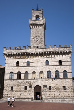 Palkazzo Comunale, Montepulciano, gamleby, historisk, Toscana, Midt-Italia, Italia