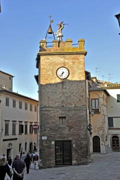 Torre Orologio, Montepulciano, gamleby, historisk, Toscana, Midt-Italia, Italia