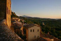 Madonna di San Biagio, Montepulciano, gamleby, historisk, Toscana, Midt-Italia, Italia