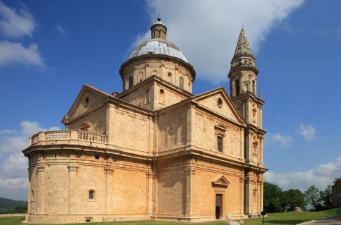Renessanse-kirken Madonna di San Biagio, Montepulciano, gamleby, historisk, Toscana, Midt-Italia, Italia