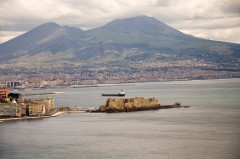 Castell dell'Ovo, Napoli, renessanse, normannere, middelalder, Unescos liste over Verdensarven, historisk bydel, gamleby, Campania, Sør-Italia, Italia