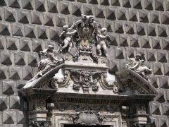 Gesu Nuovo, Napoli, renessanse, normannere, middelalder,  historisk bydel, gamleby, Campania, Sør-Italia, Italia