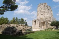 Nimes, romertid, akvedukt, amfiteater, Provence, Cote d'Azur, Sør-Frankrike, Frankrike