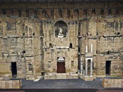 Julius Cæsar, keiser, teater, Orange, romertid, teater, triumfbue, Provence, Cote d'Azur, Sør-Frankrike, Frankrike
