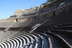 Orange, amfiteater, romertid, teater, triumfbue, Provence, Cote d'Azur, Sør-Frankrike, Frankrike