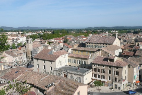 Orange, romertid, teater, triumfbue, Provence, Cote d'Azur, Sør-Frankrike, Frankrike