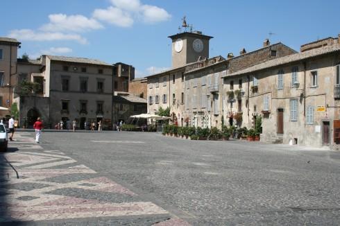 Piazza della Republica, Orvieto, middelalder, Umbria, Midt-Italia, italia