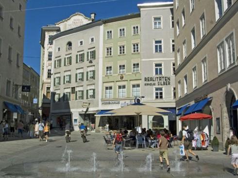Platzl Linzer Gasse, Salzburg, Altstadt, Mozart, Unescos liste over Verdensarven, Tyrol og Salzburg, Østerrike